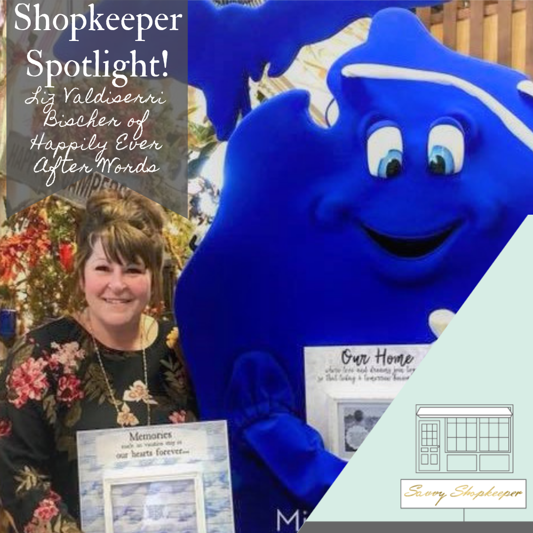 Shopkeeper Spotlight:  Liz Valdiserri Bischer of Happily Ever After Words