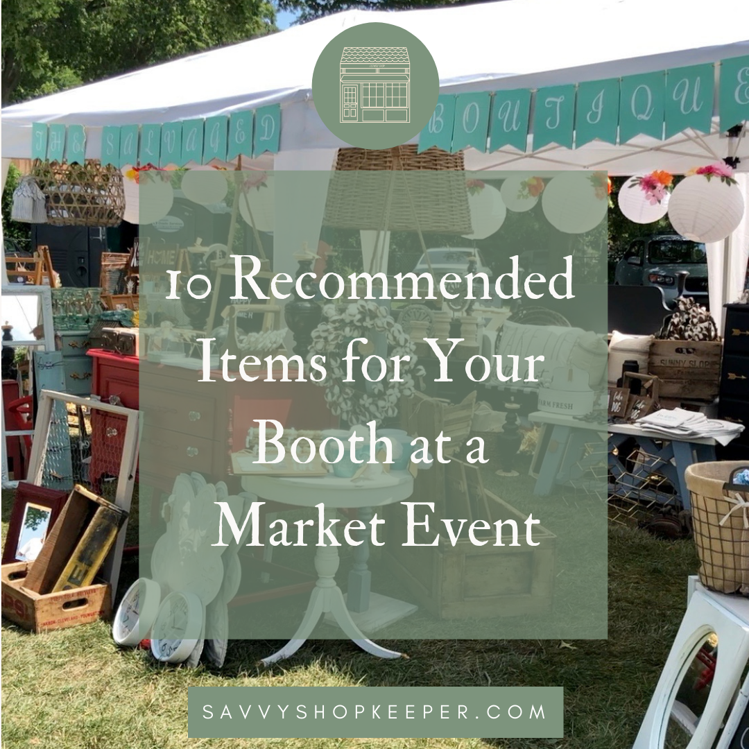 10 Recommended Items for Your Booth at a Market Event