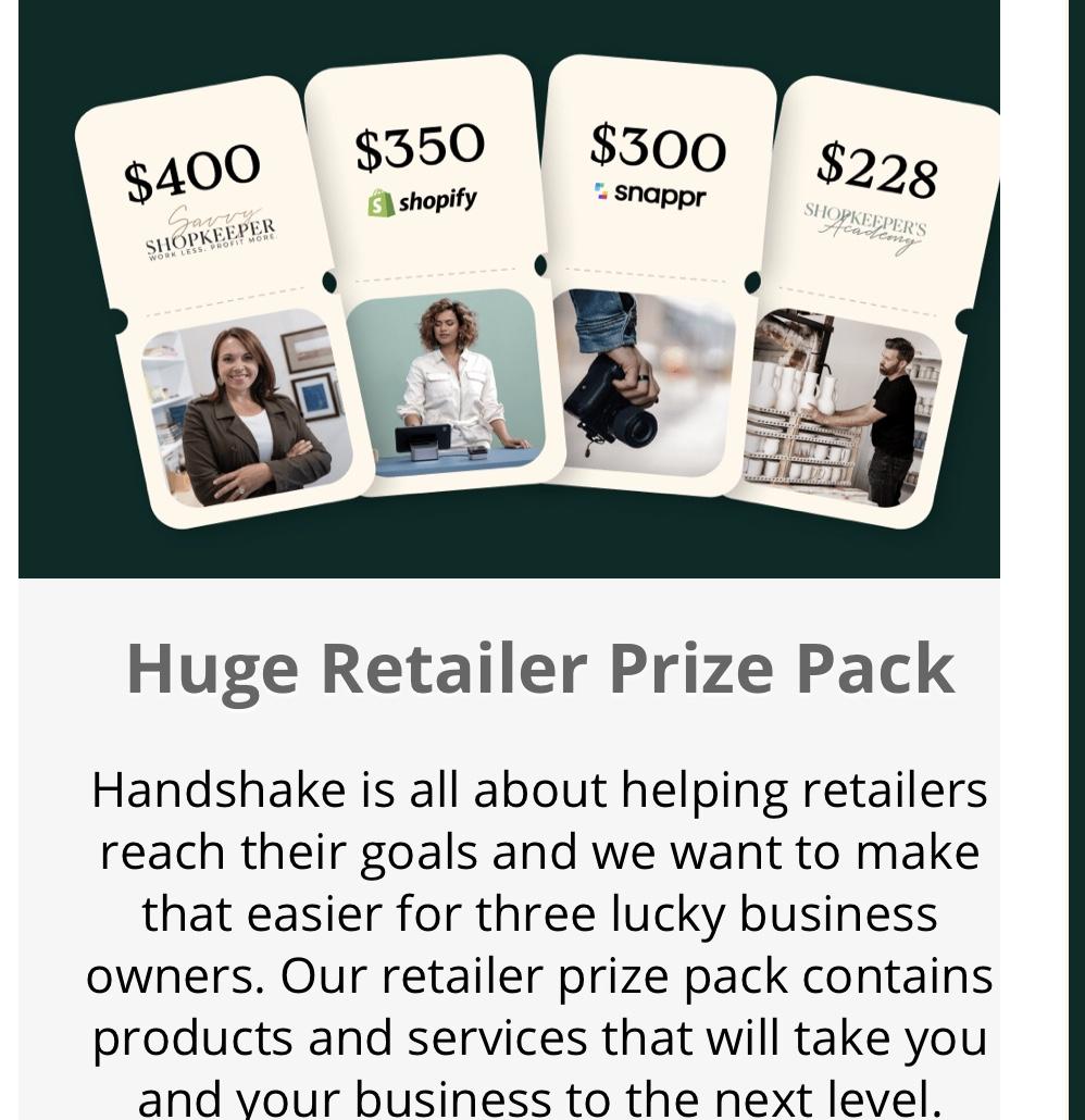 Shopify Handshake Giveaway